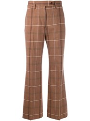 Acne Studios Fitted Low Waist Trousers Brown