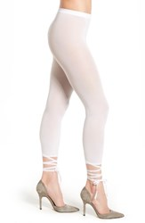 Wolford Women's Lace Up Footless Tights White