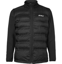 2Xu Momentum Jersey Panelled Perforated Quilted Shell Jacket Black
