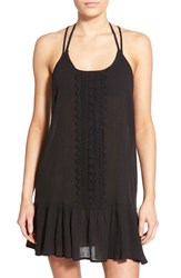 Junior Women's Rip Curl 'Love And Surf' Cover Up Dress Black