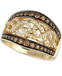 Le Vian Chocolatier Chocolate And White Diamond 1 Ct. T.W. Band In 14K Gold