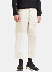 Olderbrother Patched Straight Leg Denim Pants Naturals