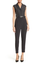 Ted Baker Women's London Natoly Belted Mixed Media Jumpsuit