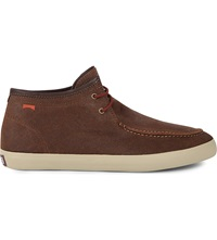 Camper Contrast Sole Leather Boots Brown
