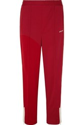 Ambush Striped Satin Jersey Track Pants Red