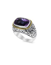 Effy Amethyst 18K Yellow Goldplated Sterling Silver Ring Purple