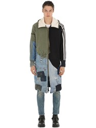 Greg Lauren The Quartered Patchwork Coat Multicolor