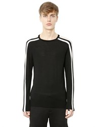 Neil Barrett Striped Merino Wool Sweater
