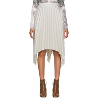 Acne Studios Grey Ilsie Stripe Suiting Skirt