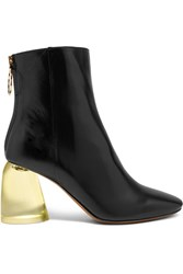 Ellery Leather And Perspex Ankle Boots Black