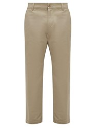 Noon Goons Club Cotton Straight Fit Trousers Khaki