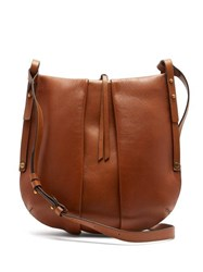 Isabel Marant Lecky Panelled Leather Cross Body Bag Brown