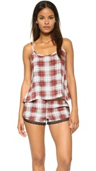Wildfox Couture Sun Bleach Plaid Cami Sleep Set
