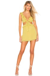 Privacy Please Lang Mini Dress Yellow