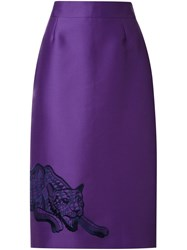 Stella Mccartney Embroidered Skirt Pink And Purple