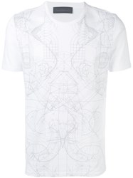 Diesel Black Gold Tonal Graphic Print T Shirt White