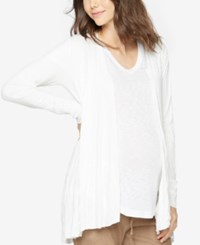 A Pea In The Pod Maternity Open Front Cardigan Soft White