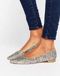 Asos Lost Pointed Ballet Flats Multi