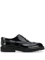 Valentino Embroidered Oxford Shoes Black