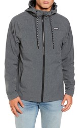 Hurley Protect Stretch Hooded Jacket Heather Black