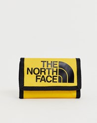 The North Face Base Camp Wallet In Yellow Yellow
