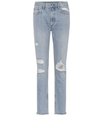 Rag And Bone Marilyn Distressed Skinny Jeans Blue