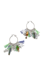 Venessa Arizaga Stellar Earrings Silver Multi