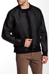 Hunter Original Rubber Bomber Jacket Black