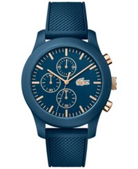 Lacoste Unisex Chronograph 12.12 Blue Silicone Strap Watch 44Mm 2010827
