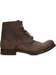 A Diciannoveventitre Distressed Ankle Boots Brown