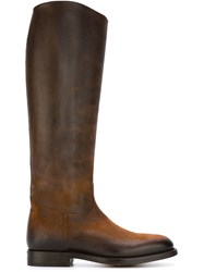 Alberto Fasciani Knee High Flat Boots Nude And Neutrals
