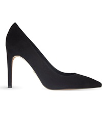 Whistles Cornel Suede Pointed Toe Pumps Black