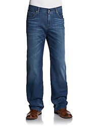 7 For All Mankind Faded Relaxed Fit Jeans Beryl Blue