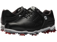 Footjoy Tour S Cleated Tpu Saddle Strap All Over Black Golf Shoes