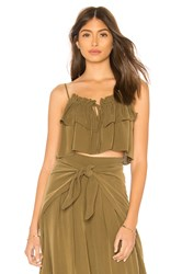 Milly Tammy Crop Top Olive