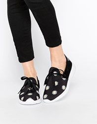 Y R U Yru Beam Sunflower Sneakers Blkwht Sunflower