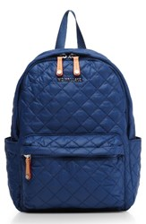 M Z Wallace Mz 'Small Metro' Quilted Oxford Nylon Backpack Blue Estate Blue