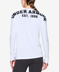 Under Armour Favorite Long Sleeve Top White Black