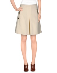Moncler Knee Length Skirts Ivory
