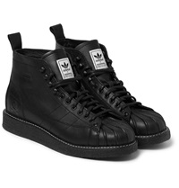 Adidas Neighborhood Shell Toe Leather Boots