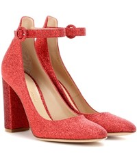 Gianvito Rossi Greta Glitter Pumps Red