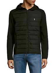 Polo Ralph Lauren Solid Puffer Zipper Jacket Black