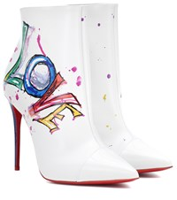 Christian Louboutin Boot In Love Leather Ankle Boots White