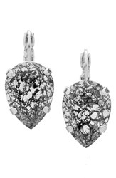 L. Erickson Women's 'Scarlett' Teardrop Earrings Crystal Black Patina