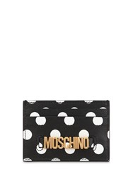 Moschino Dot Printed Leather Card Holder Array 0X58a3a60