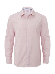 White Stuff Men's Berry Plain Long Sleeve Shirt Pink