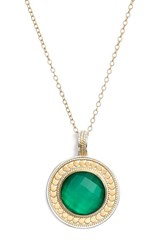 Women's Anna Beck 'Gili' Lapis Pendant Necklace Gold Green Onyx Nordstrom Exclusive