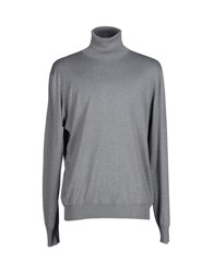 Heritage Knitwear Turtlenecks Men Grey