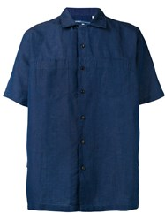 Levi's Made And Crafted Short Sleeve Shirt Blue