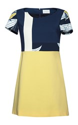 Parden's Jyoti A Line Dress Blue Yellow White